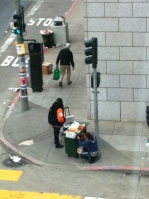 Bacon-Wrapped Hotdog Vendor at Golden Gate & Polk Street