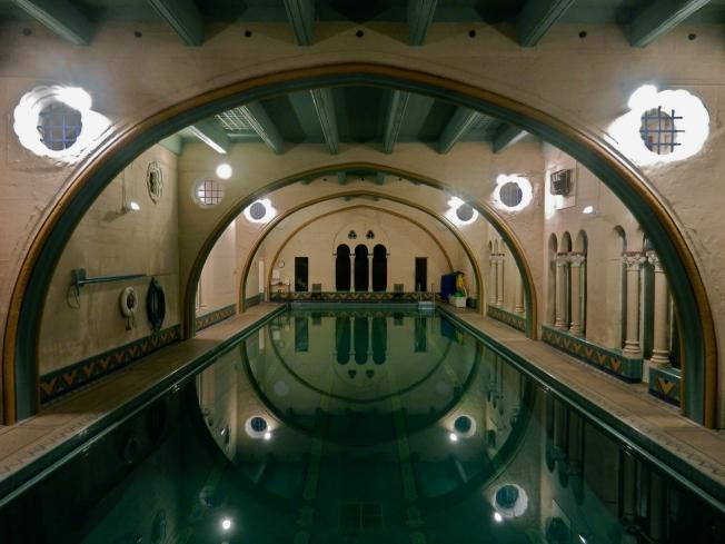 Swimming Pool of the Berkeley City Club at Night, 3 December 2012