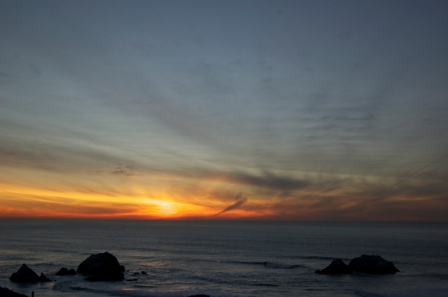 Darkness Falls, San Francisco, California 21 January 2013
