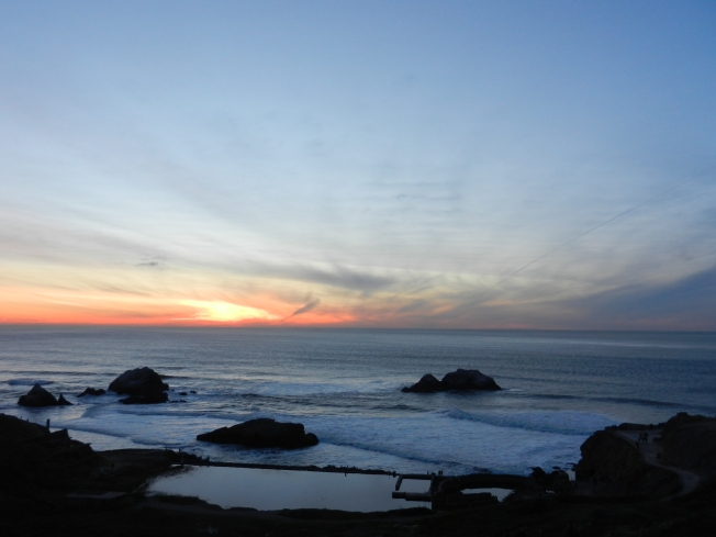 Sunset, Sutro Baths, San Francisco, 21 January 2013. Nikon Coolpix S9100, Sunset Mode
