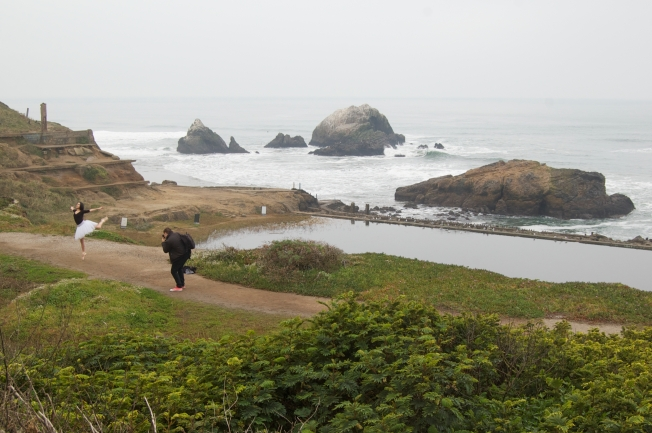 The Photograher & The Ballerina at the Sutro Baths, 2 February 2013