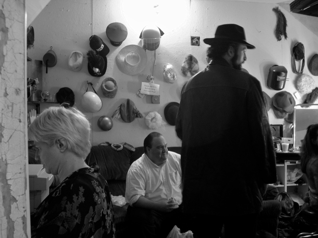 "Backstage at the Dark Room Theater During a Performance of ""The Night"""