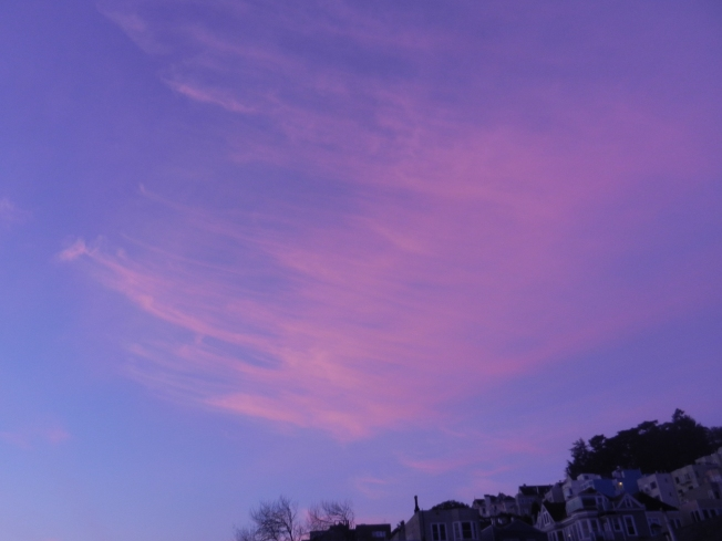 Dawn, Southwest View from Haight Street, San Francisco, 14 March 2013