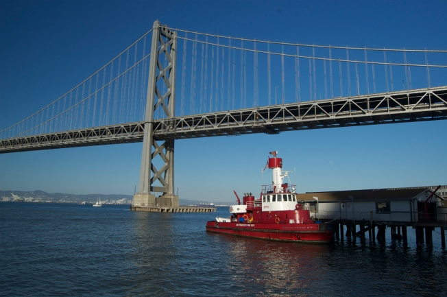 Bay Bridge & Fire Boat No. 2, 23 May 2013