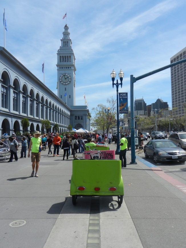 Pedicab, Ferry Building, Embarcadero, San Francisco, California