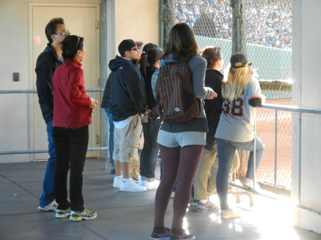 First Inning Crowd Located at the Right Field Line