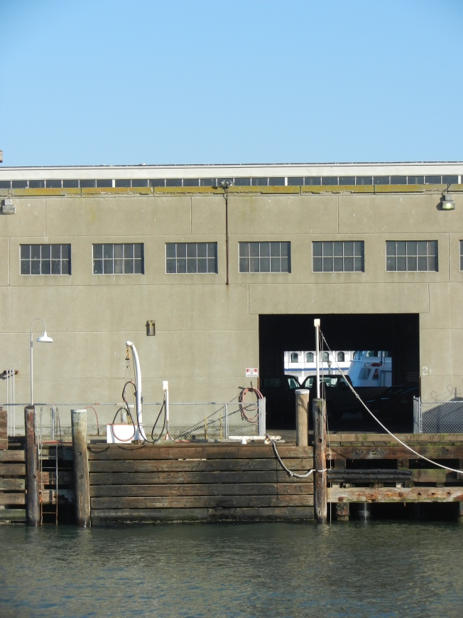 Some buildings at the Embarcadero retain their original maritime uses.