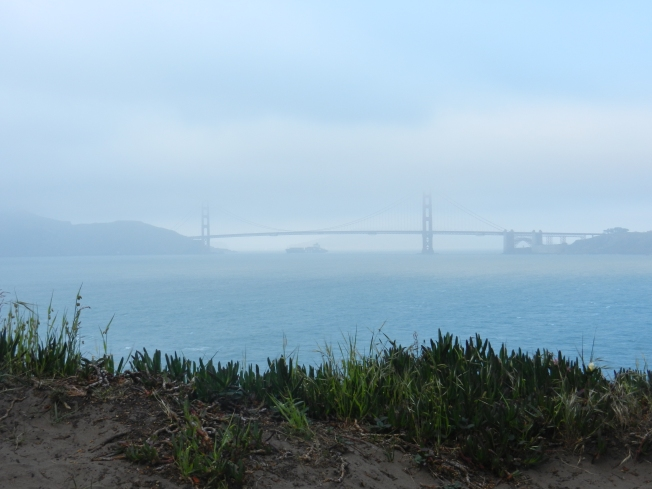 Looking East from Land's End at the Golden Gate Bridge