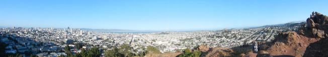 180 Panorama of San Francisco and the East Bay from the Top of Corona Heights, San Francisco, CA 18 May 2013