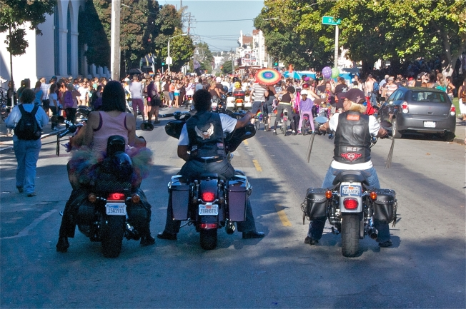 YUAH8TER: Last Group of Bikers Waiting to Ride in Saturday's Parade