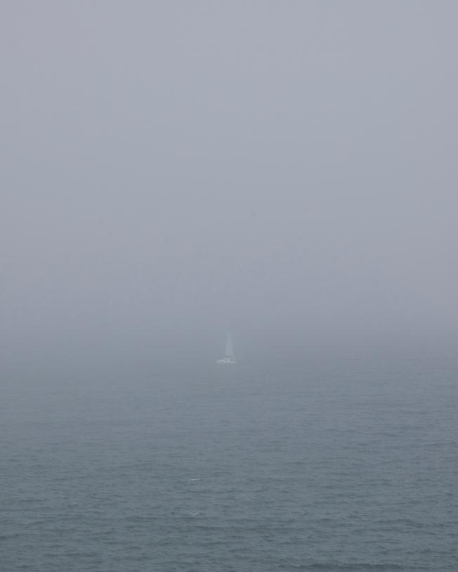 Grey Series: Lone Sailboat, San Francisco, California 083113