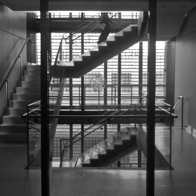 """""""The Escher Staircase"""" (my nickname) at SFPUC HQ, 3rd Floor"""