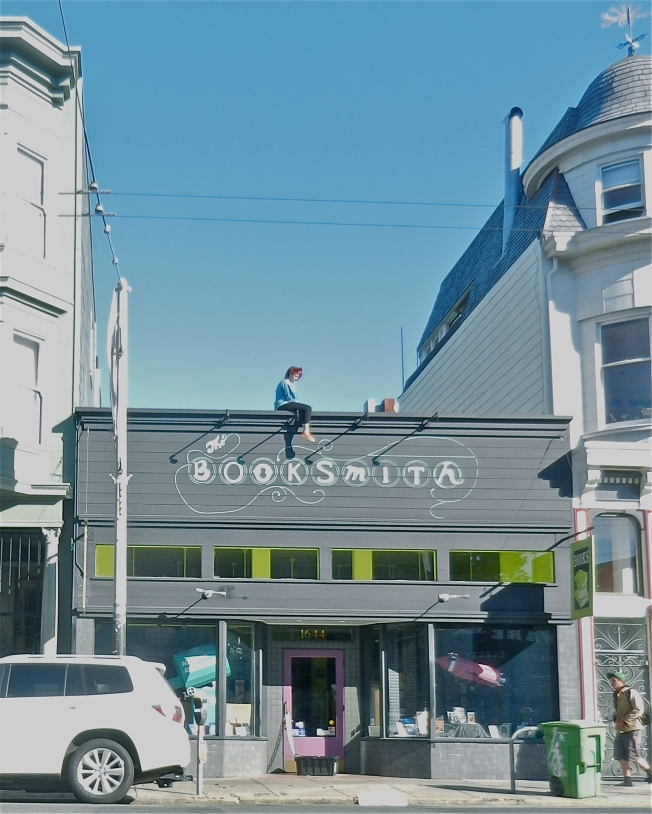 Sitting on the Bookstore Roof, Haight Street, San Francisco, 5 October 2013