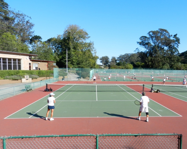 One vs. Two Tennis Match, Golden Gate Park, San Francisco, 5 October 2013
