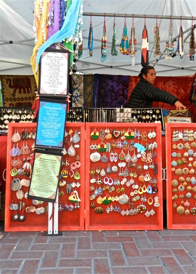 Street Vendor Closing Shop, Civic Center, San Francisco, California 10 October 2013