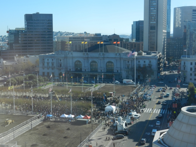 View of Just One of the Batkid Parties in San Francisco; the Main One at the Civic Center, 15 November 2013.
