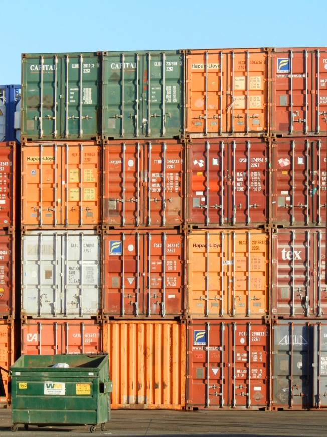 Green, Brown & Orange, Port of Oakland, 16 November 2013