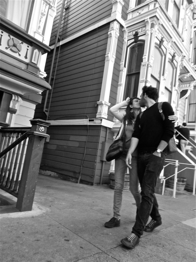 Lovers on Haight Street, Lower Haight Neighborhood, 10 Nov 2013