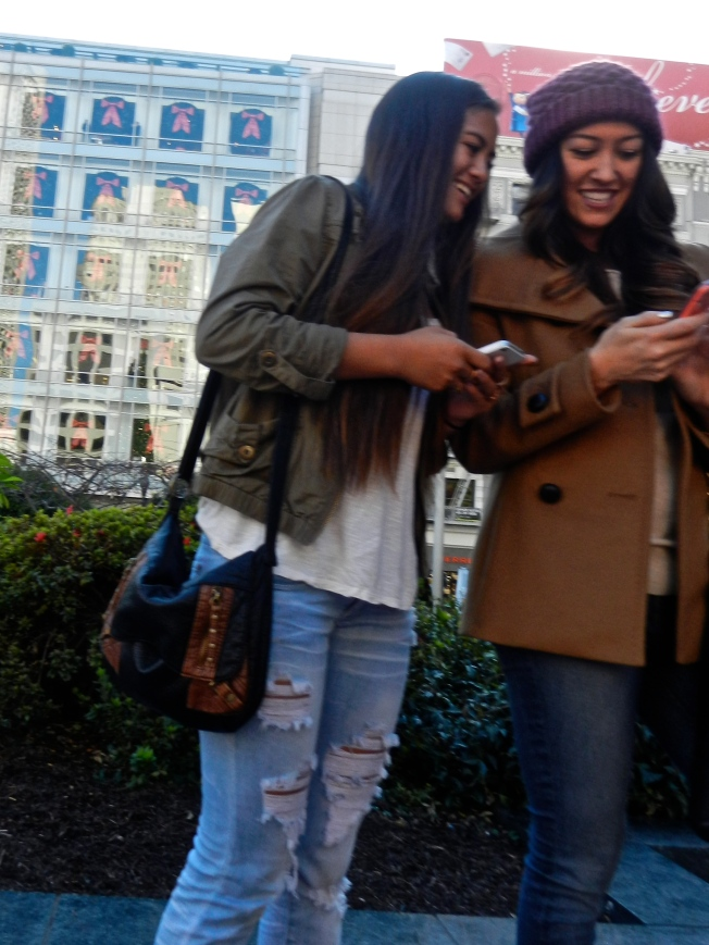 Checking Out the Selfies, San Francisco, CA 22 December 2013