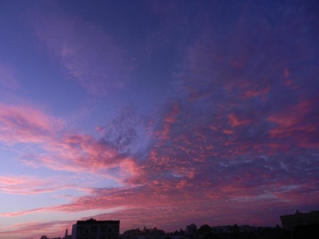Sunset from Alamo Square, 24 January 2014