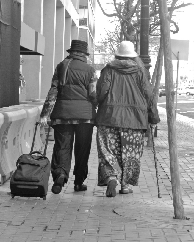 Elderly Lesbian Couple, Market Street, San Francisco