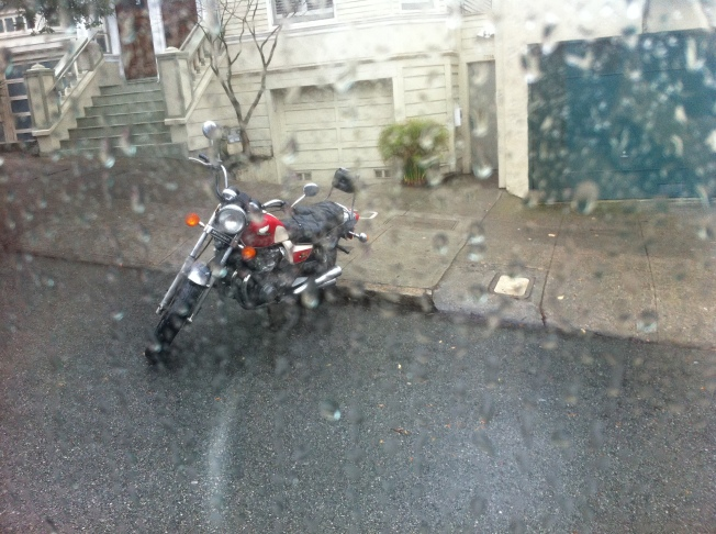 Motorcycle on Ashbury near Haight, 11 January 2014