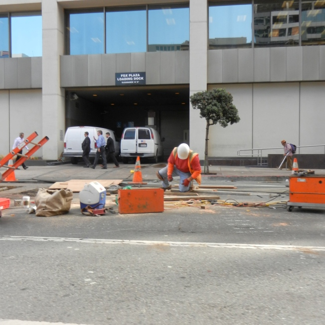 Underground Pipe Repairs, Polk Street near Market, San Francisco