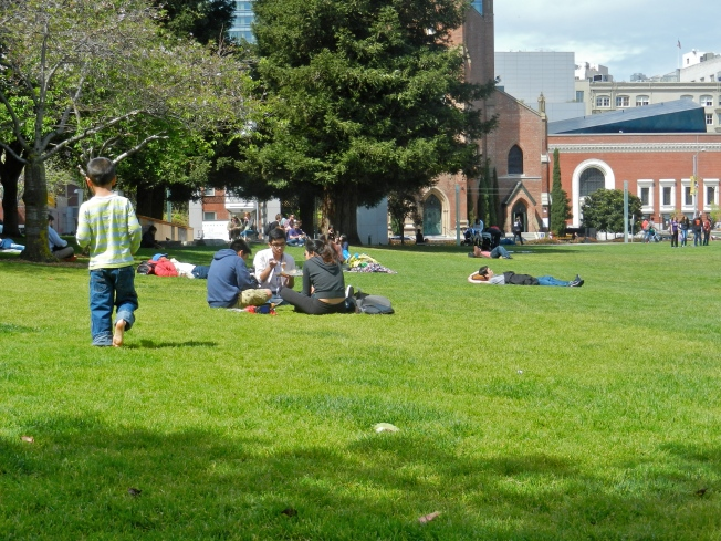 Picnickers, Yerba Buena, 28 March 2014