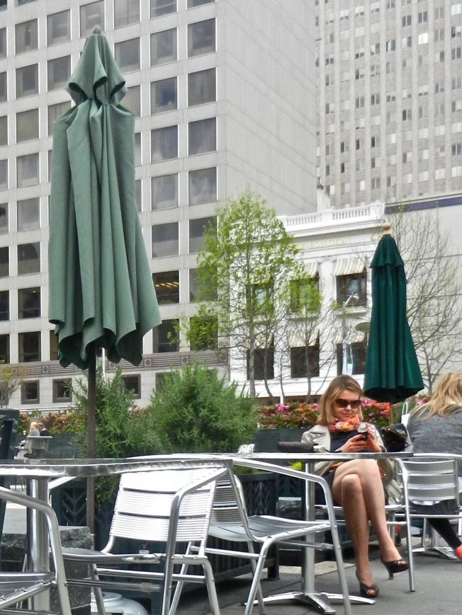 Text Messaging, Union Square, San Francisco