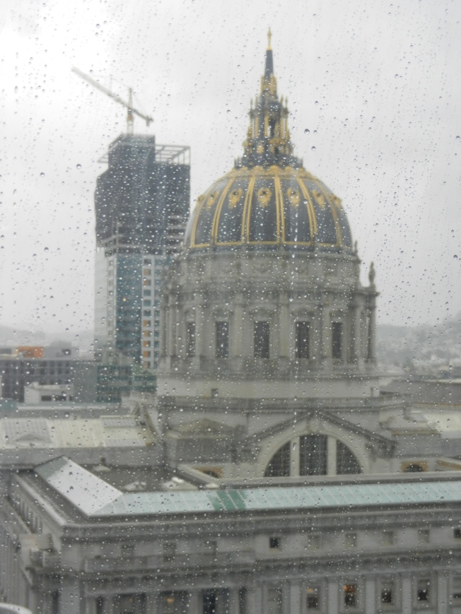 San Francisco City Hall During the Last Big Storm, 31 March 2014