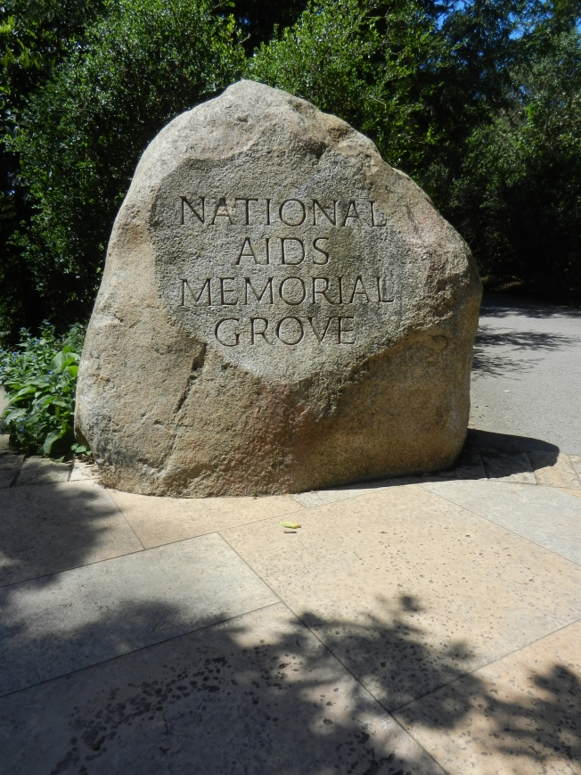 Entrance to AIDS Memorial Grove