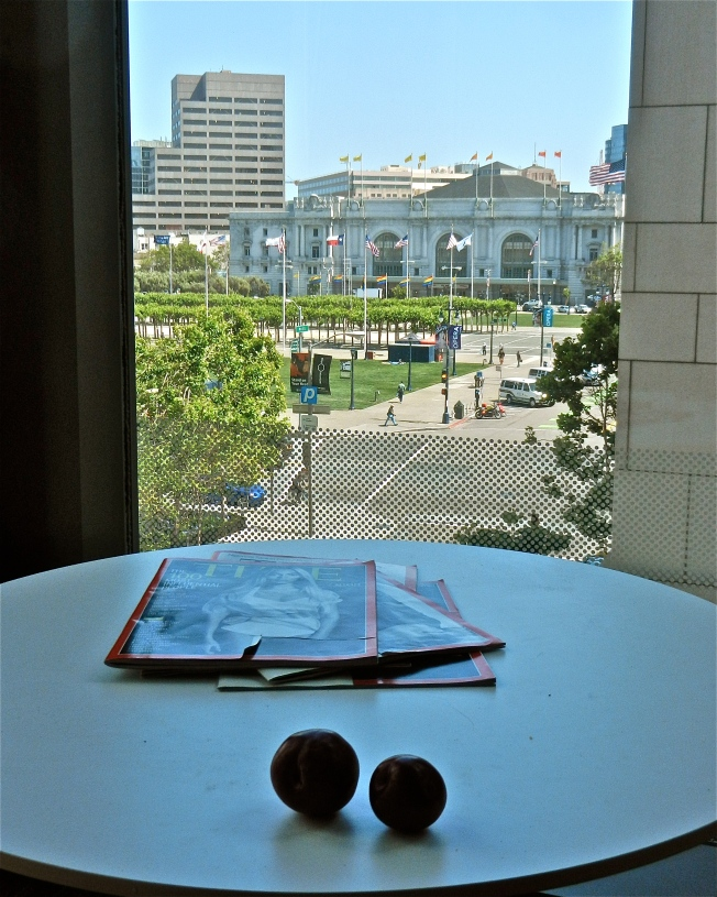 Still Life with Plums and Magazines, 6 June 2014