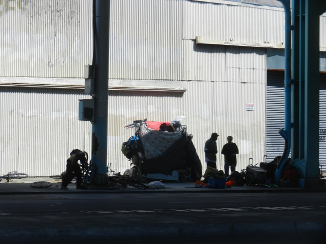 Homeless Encampment, 13th Street, San Francisco, 16 August 2014