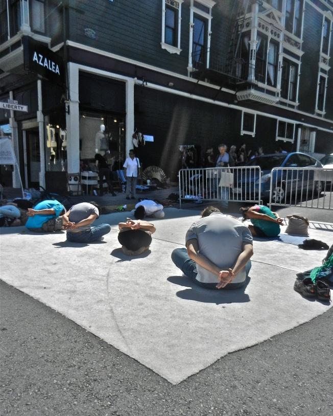 Yoga Class, Sunday Streets