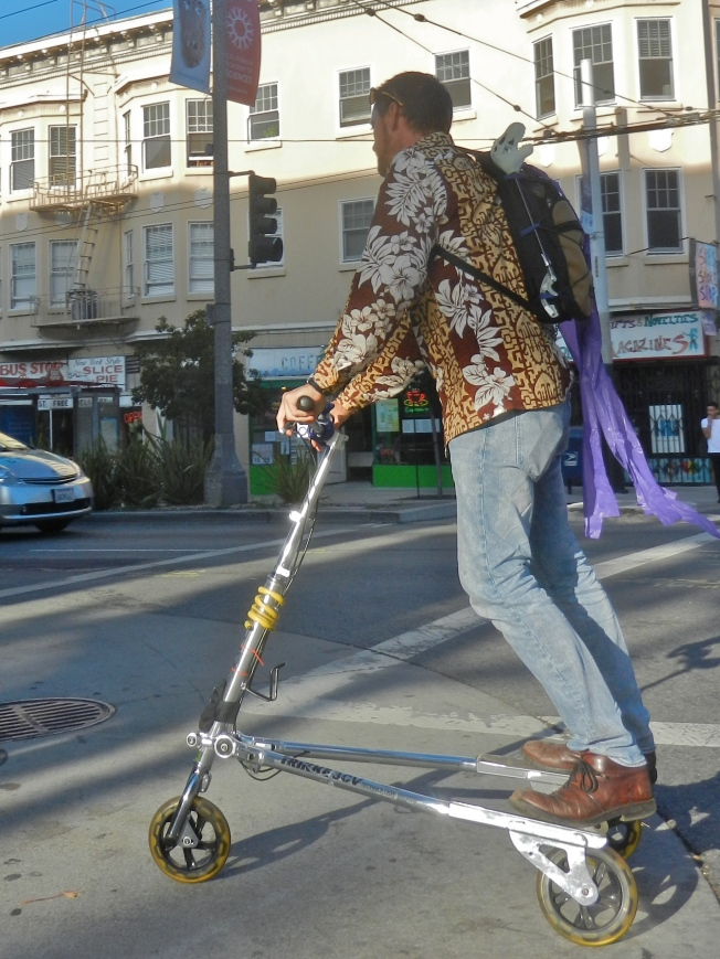 Three-Wheeled Scooter, Divisadero & Haight, San Francisco