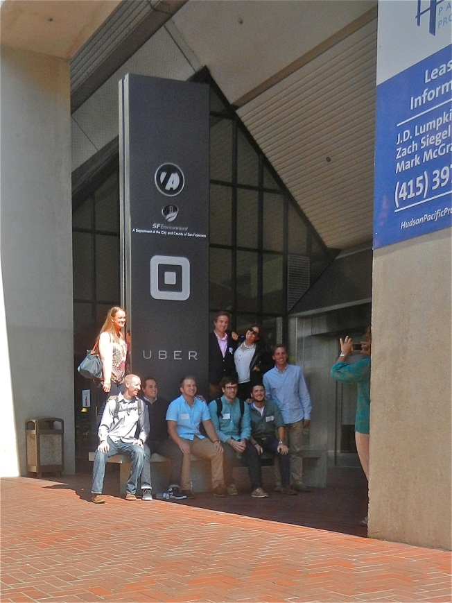 Uber Employees Posing for a Photo