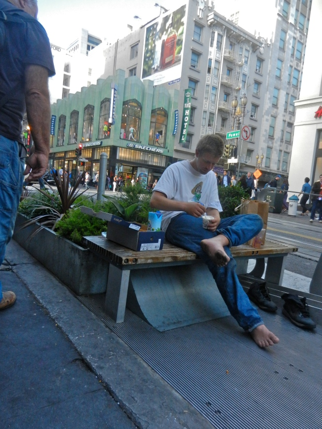 New Shoes & Dinner, Powell Street, San Francisco