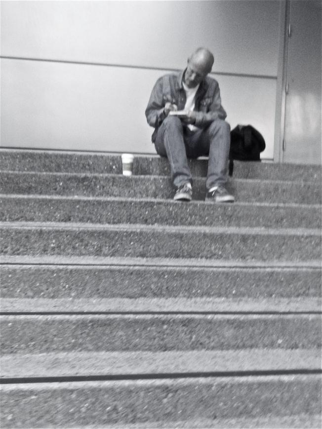 Solitude, East Stairway of the Metreon, San Francisco