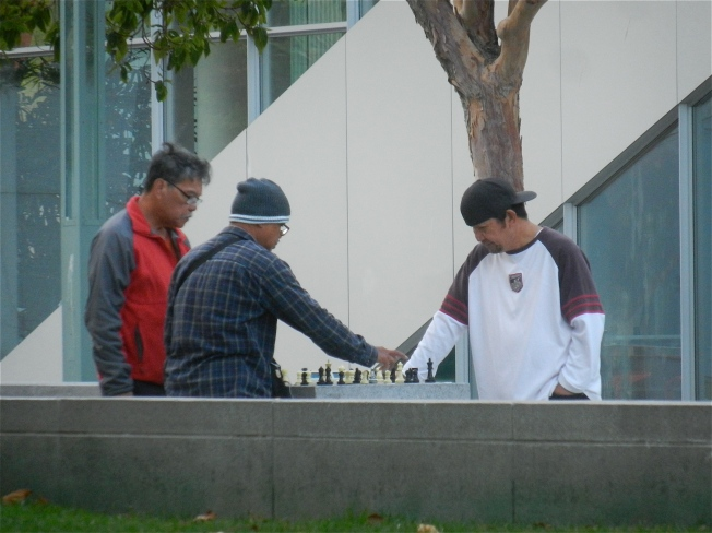 Chess Players Outside the Yerba Buena Center for the Arts, San Francisco