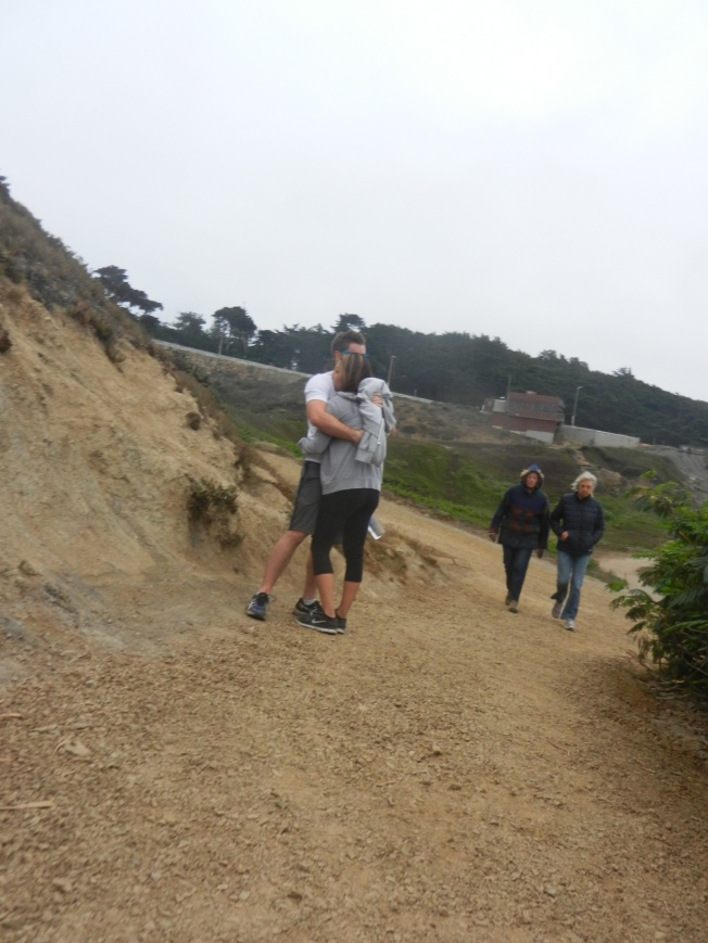 Two Couples, Young and Old, Sutro Baths, 20 September 2014