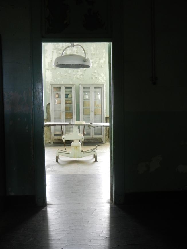 Operating Table in Alcatraz Hospital, 5 January 2015.