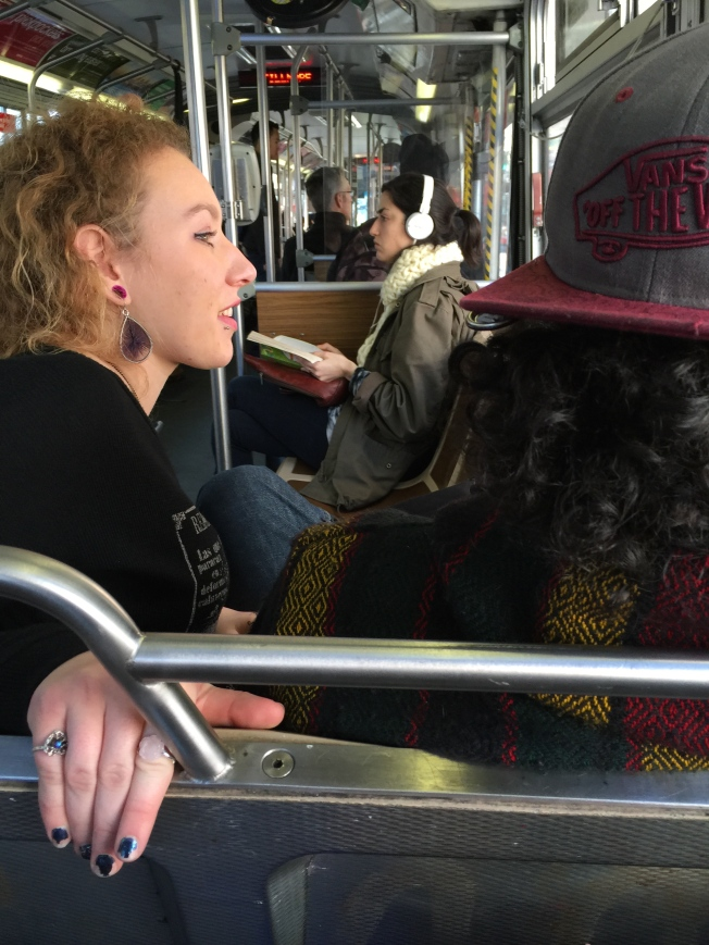 Passengers on the 71 Haight-Noriega, 18 January 2015.