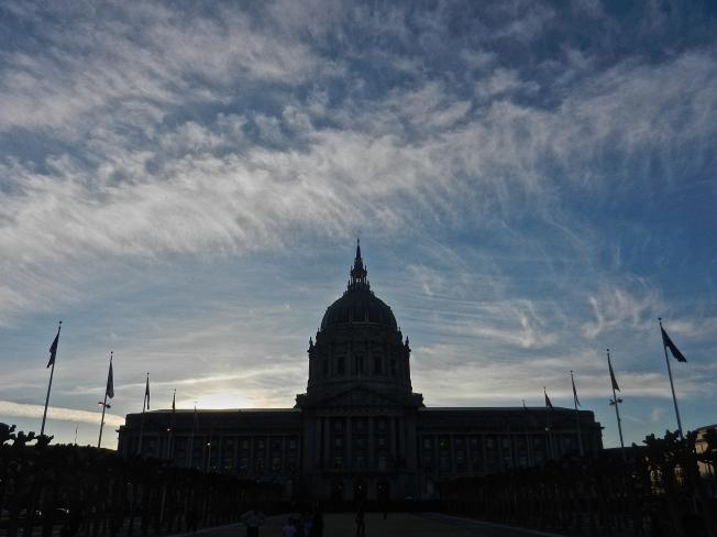 San Francisco City Hall Near Sunset, 13 February 2015.