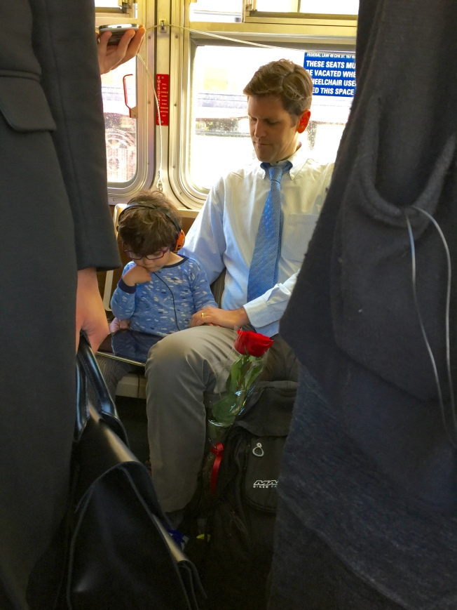 Father & Son on the 7R Bus, 12 May 2015, 7:57 a.m., San Francisco, California