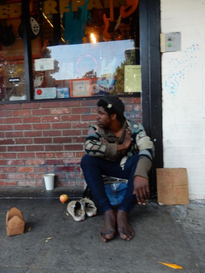 Bare Feet, Haight Street, 2 August 2015