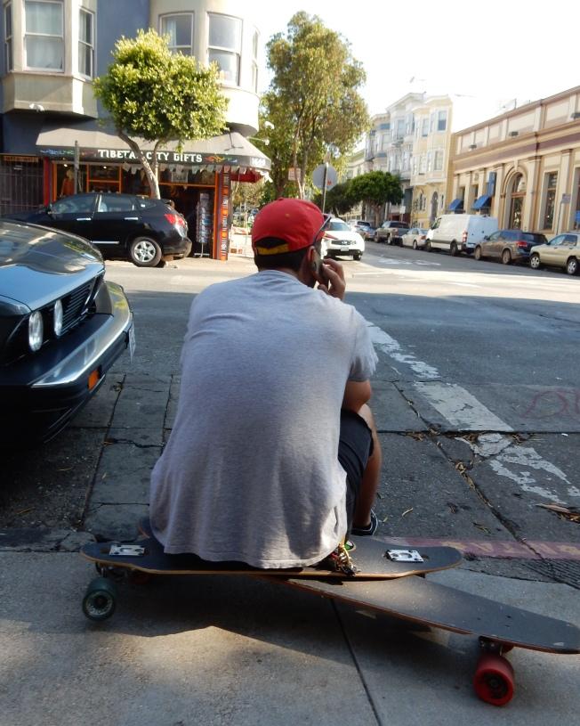 Two Skateboards, Haight Street, 2 August 2015