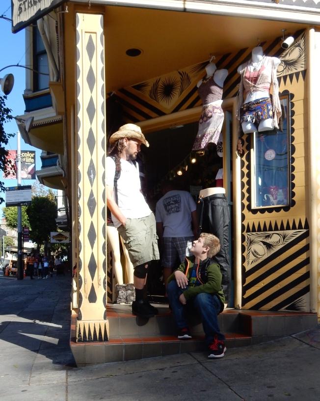Father & Son, Gypsy Streetwear, San Francisco, CA, 3 October 2015.