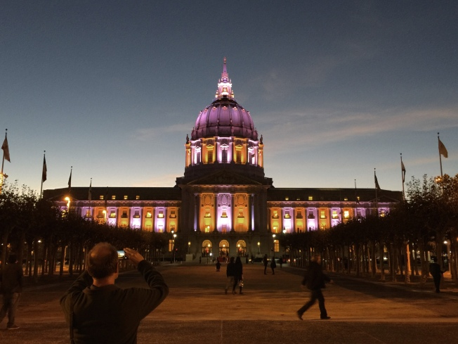 San Francisco City Hall in Gold & Silver, 12 November 2015.
